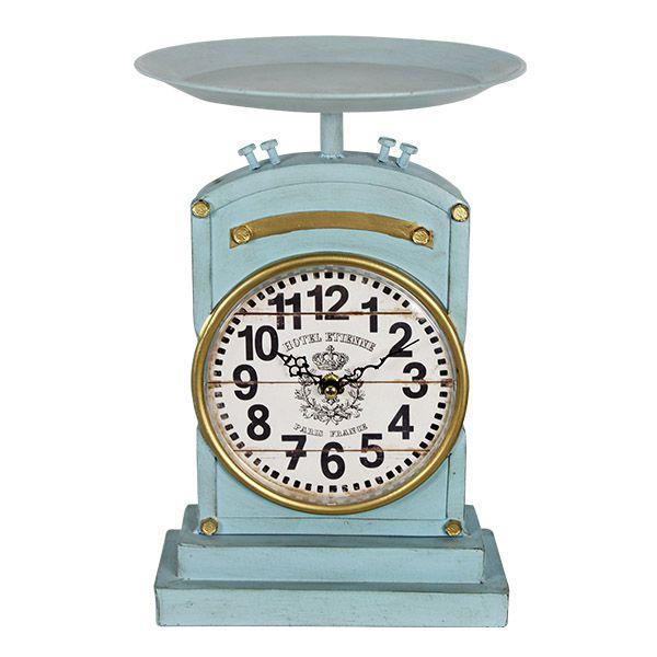 Relógio De Mesa Balança Azul  - Arrivo Mobile