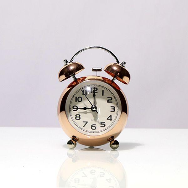 Relógio de Mesa com Despertador Pequeno Rose Gold   - Arrivo Mobile