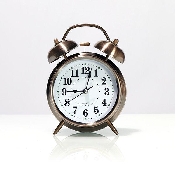 Relógio de Mesa com Despertador Pequeno Rose Gold Escurecido  - Arrivo Mobile