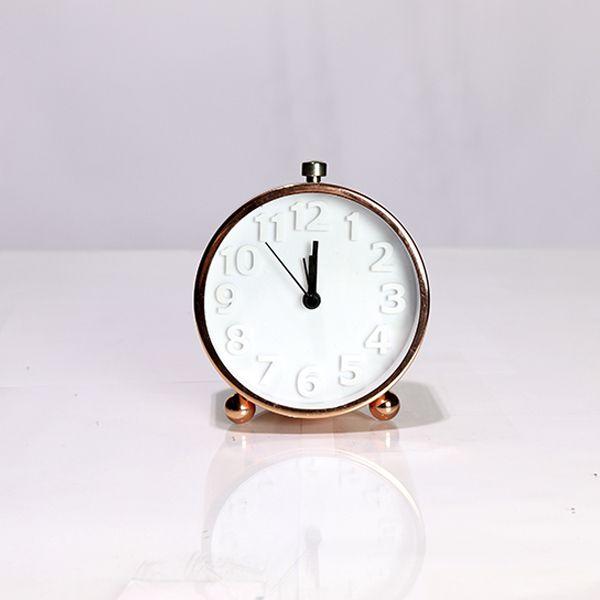 Relógio de Mesa com Despertador Rose Gold   - Arrivo Mobile