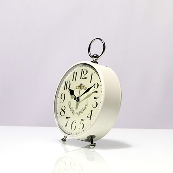 Relógio de Mesa Pequeno Branco  - Arrivo Mobile