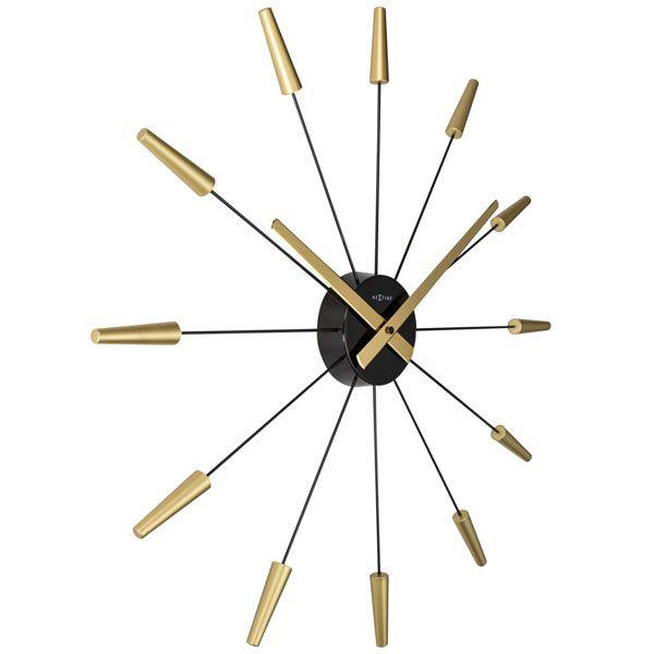 Relogio De Parede Plug Inn Gold Nextime D=58cm  - Arrivo Mobile