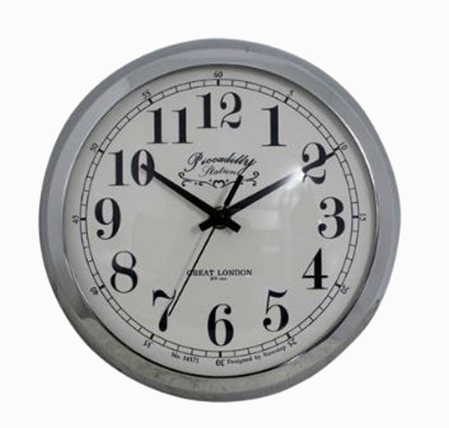 Relógio De Parede Anne Silver G  - Arrivo Mobile