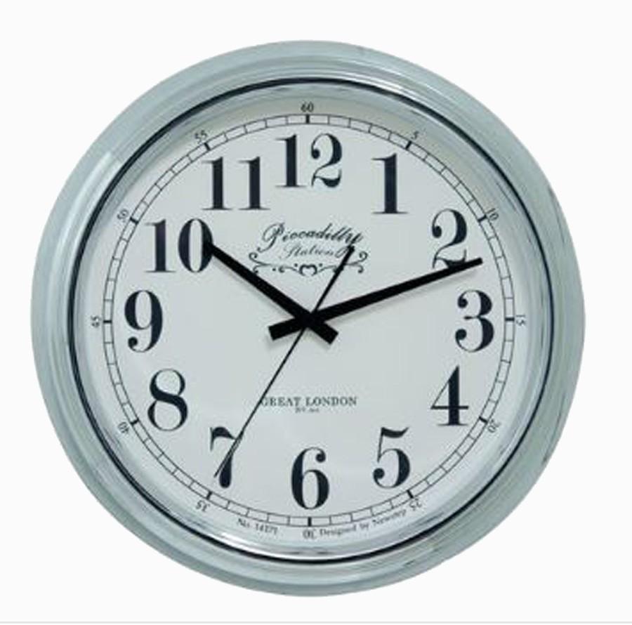Relógio De Parede Blanche Silver G  - Arrivo Mobile
