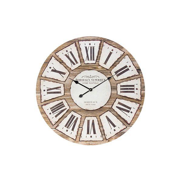 Relógio De Parede Cor Madeira Bordeaux  - Arrivo Mobile