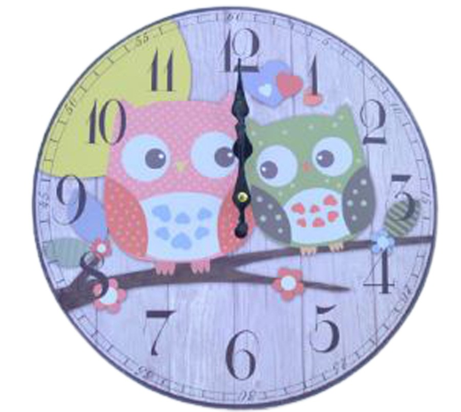 Relógio De Parede Corujas No Galho  - Arrivo Mobile