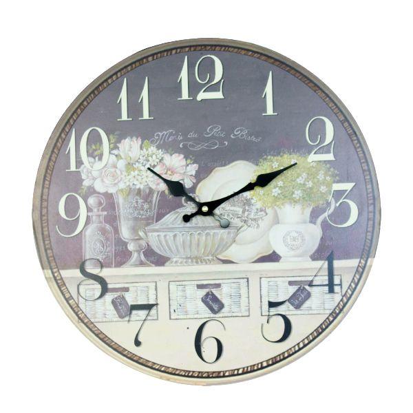 Relógio De Parede Flores 40x40x2cm  - Arrivo Mobile