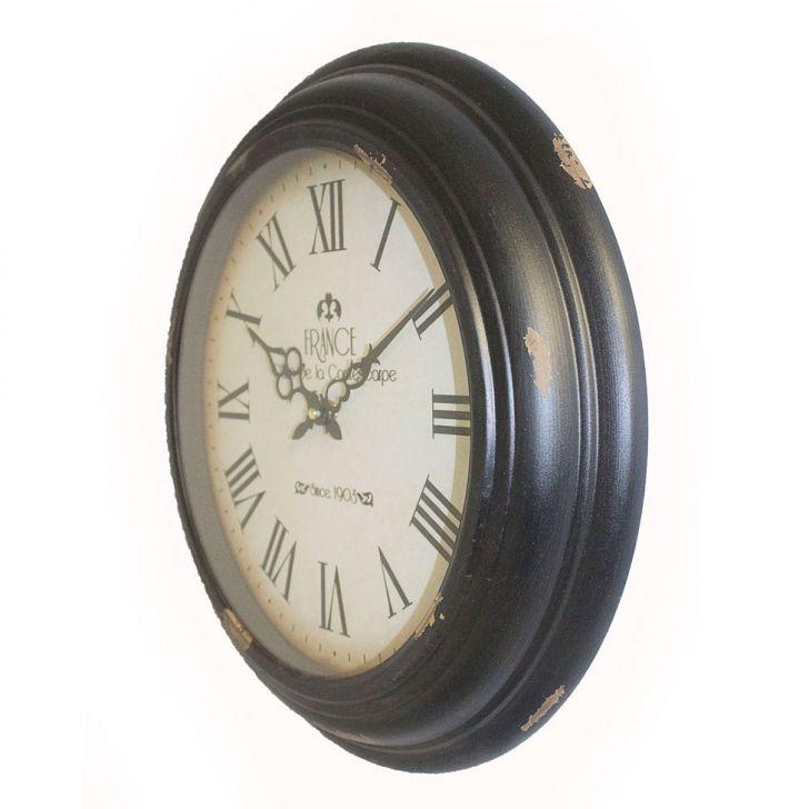 Relógio De Parede France Ferro F Branco  - Arrivo Mobile