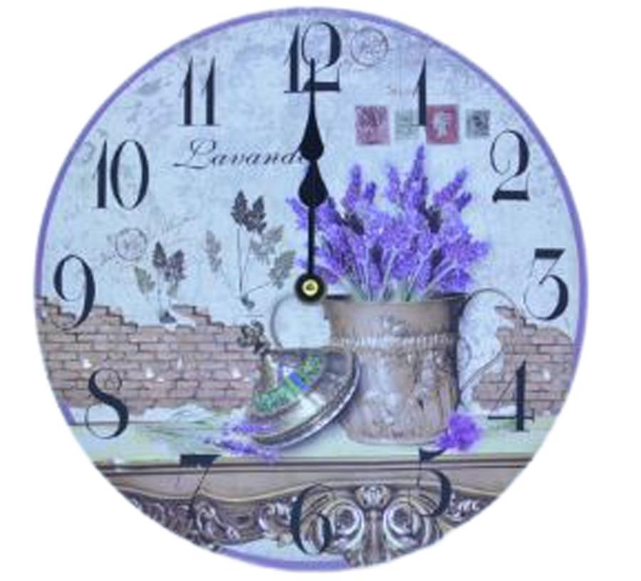 Relógio De Parede Lavanda  - Arrivo Mobile