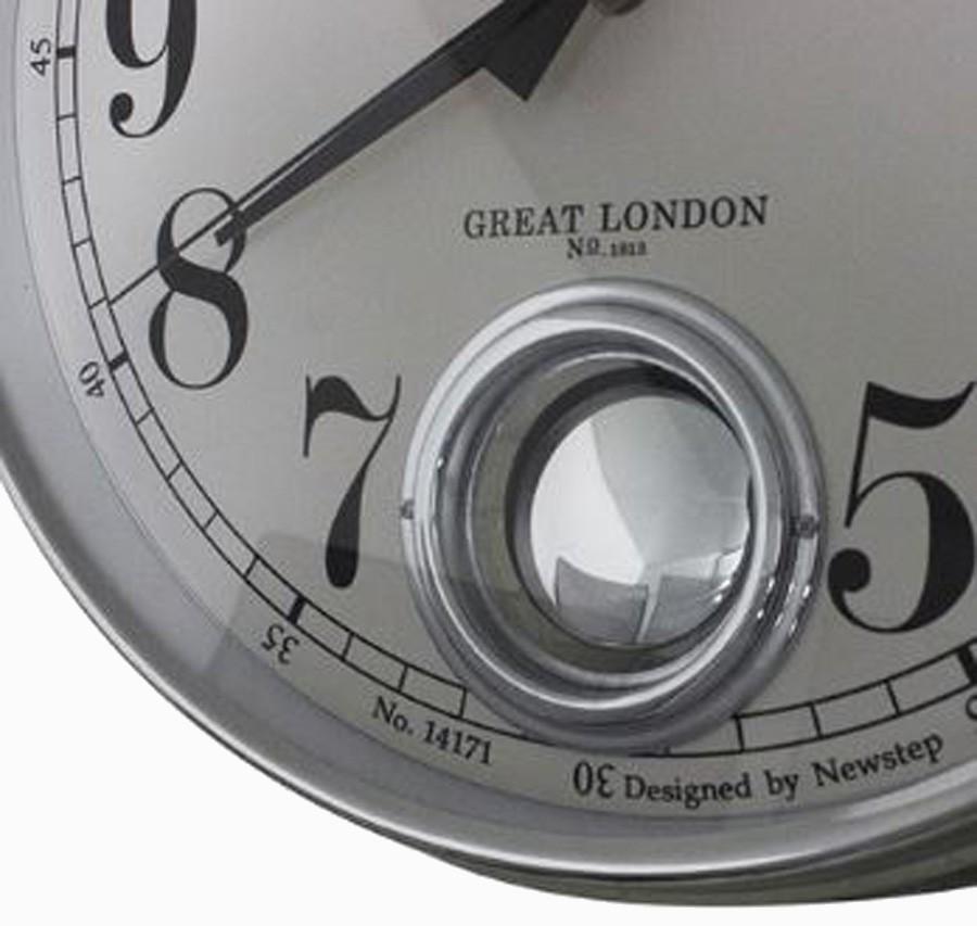 Relógio De Parede Marie Silver G  - Arrivo Mobile