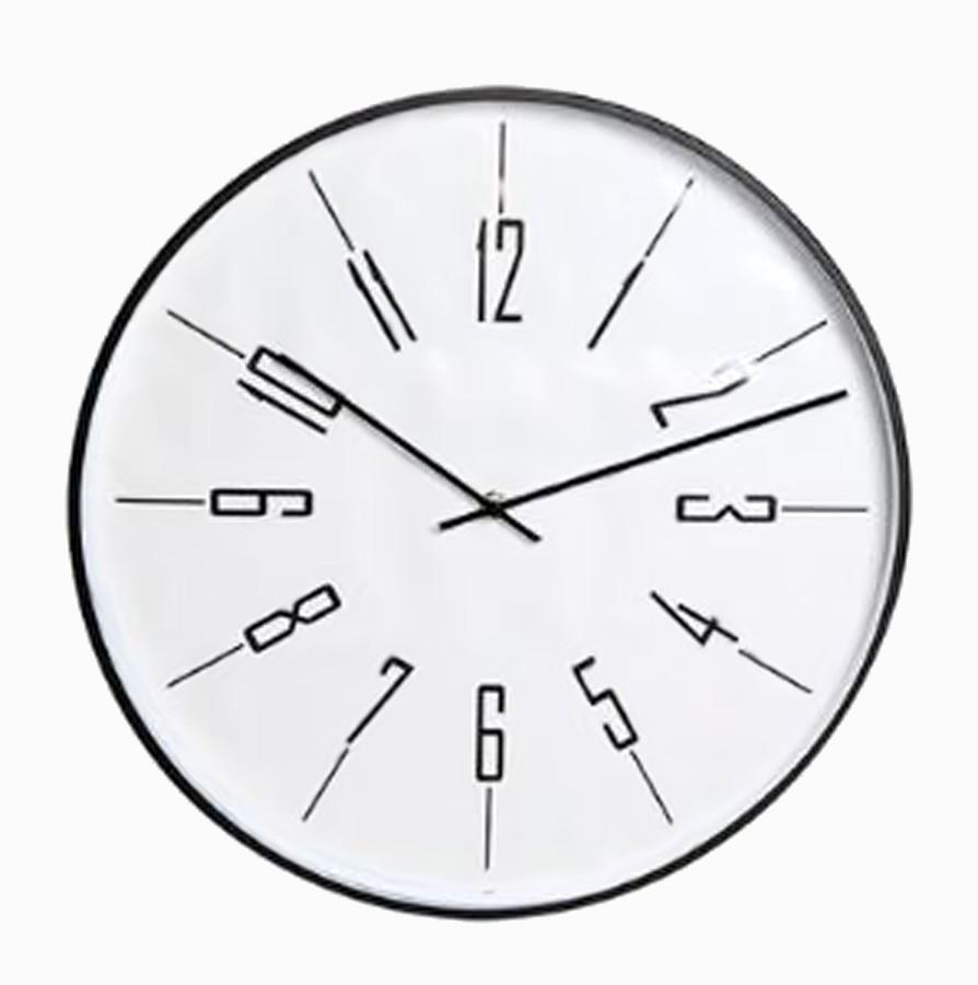 Relógio De Parede Metal Preto  - Arrivo Mobile