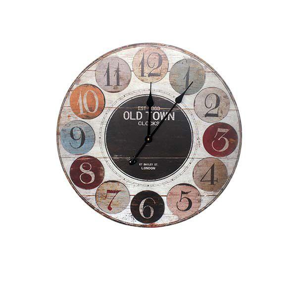 Relógio De Parede Numbers Colors  - Arrivo Mobile