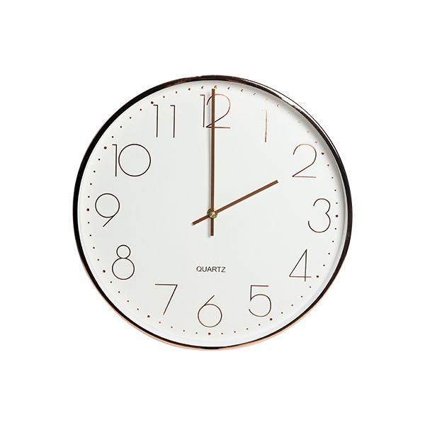 Relógio De Parede Rose Gold  - Arrivo Mobile