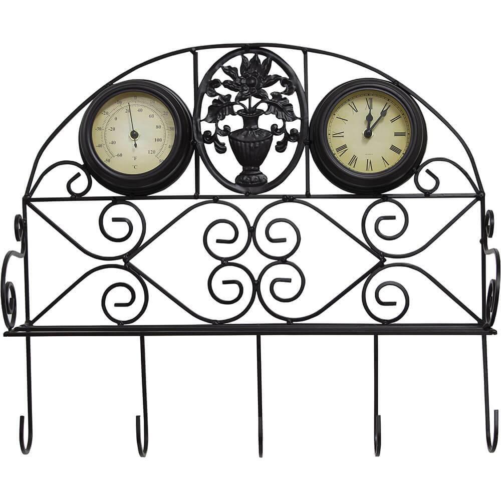 Relógio Gancheira Termômetro Greenway - 44x48x15cm  - Arrivo Mobile