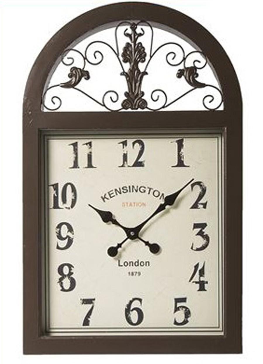 Relógio Janela Marrom 77x49x6cm  - Arrivo Mobile