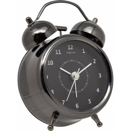 Relógio Mesa Despertador Black Nextime 30x23cm  - Arrivo Mobile
