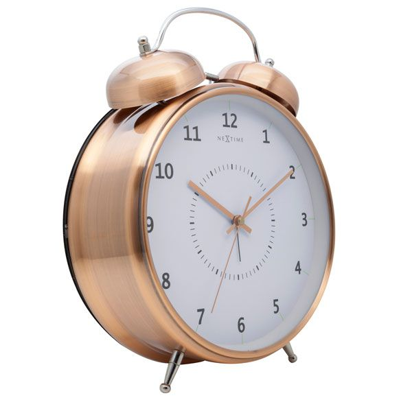 Relógio Mesa Despertador Copper Nextime 30x23cm  - Arrivo Mobile