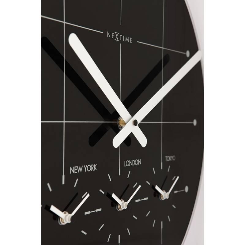 Relógio Parede Big City Black Nextime  - Arrivo Mobile