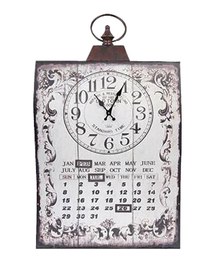 Relógio Parede Calendário Curvo Bco  - Arrivo Mobile