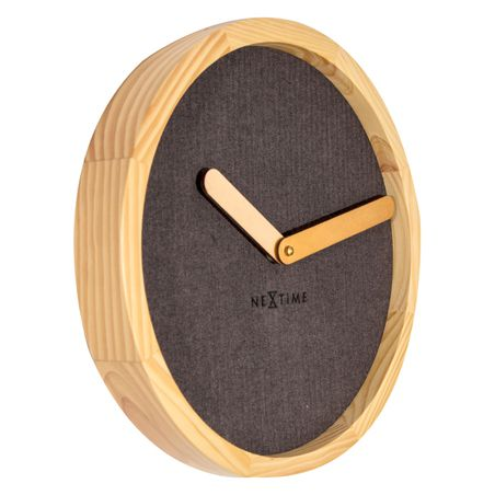Relogio Parede Calm Brown Wood 30Cm Nextime  - Arrivo Mobile
