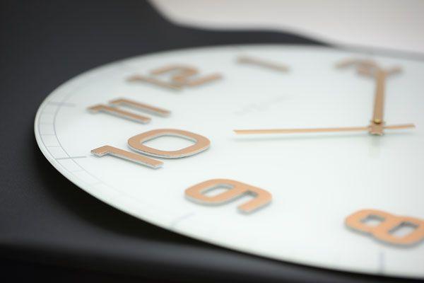 Relógio Parede Classy Large White Copper  Nextime  - Arrivo Mobile