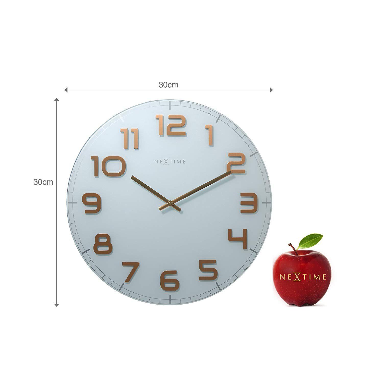 Relógio Parede Classy Round White Cooper Nextime  - Arrivo Mobile