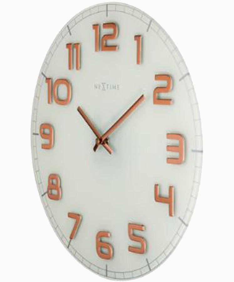 Relógio Parede Classy Round White Copper Nextime D=30cm  - Arrivo Mobile