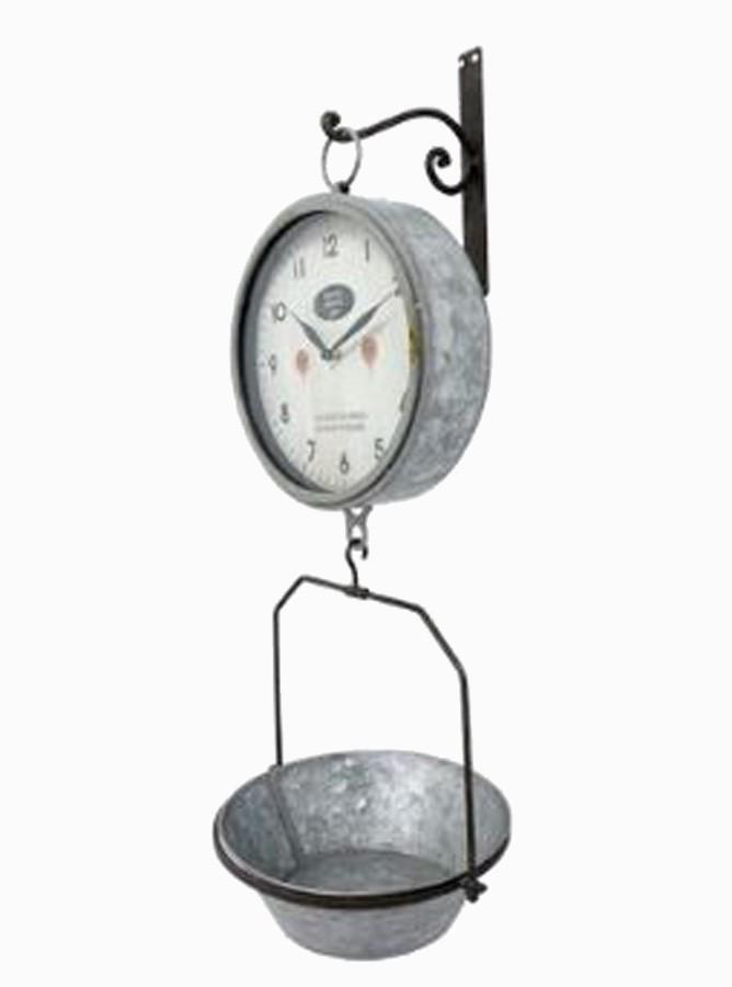 Relógio Parede Com Bandeja Galvanizado  - Arrivo Mobile