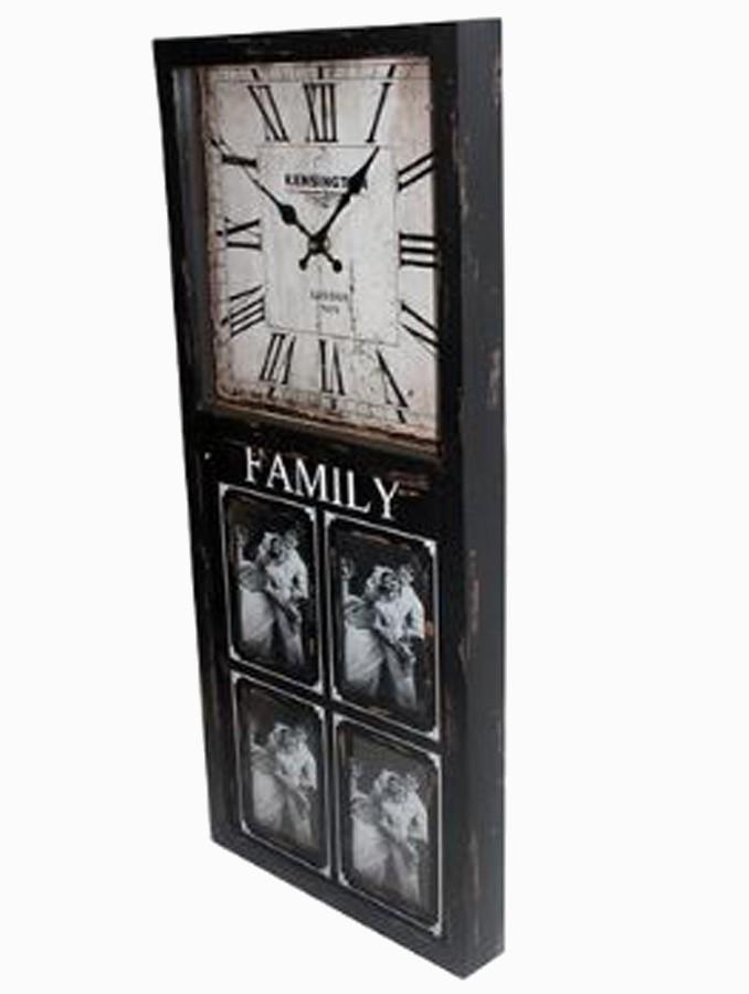 Relógio Parede Com Porta Retrato 4 Fotos  - Arrivo Mobile