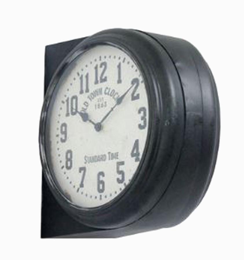Relógio Parede Dupla Face Preto  - Arrivo Mobile