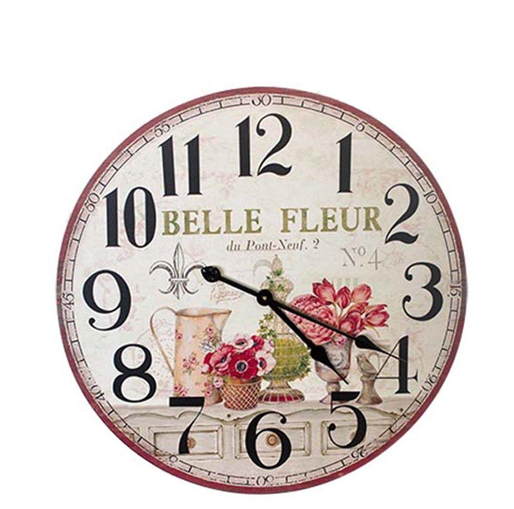 Relógio Parede em Mdf Flor Belle  - Arrivo Mobile