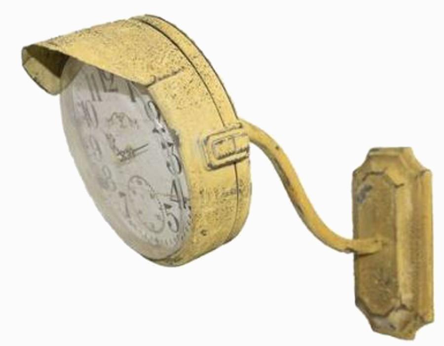 Relógio Parede Ferro Amarelo Tipo Sinal  - Arrivo Mobile