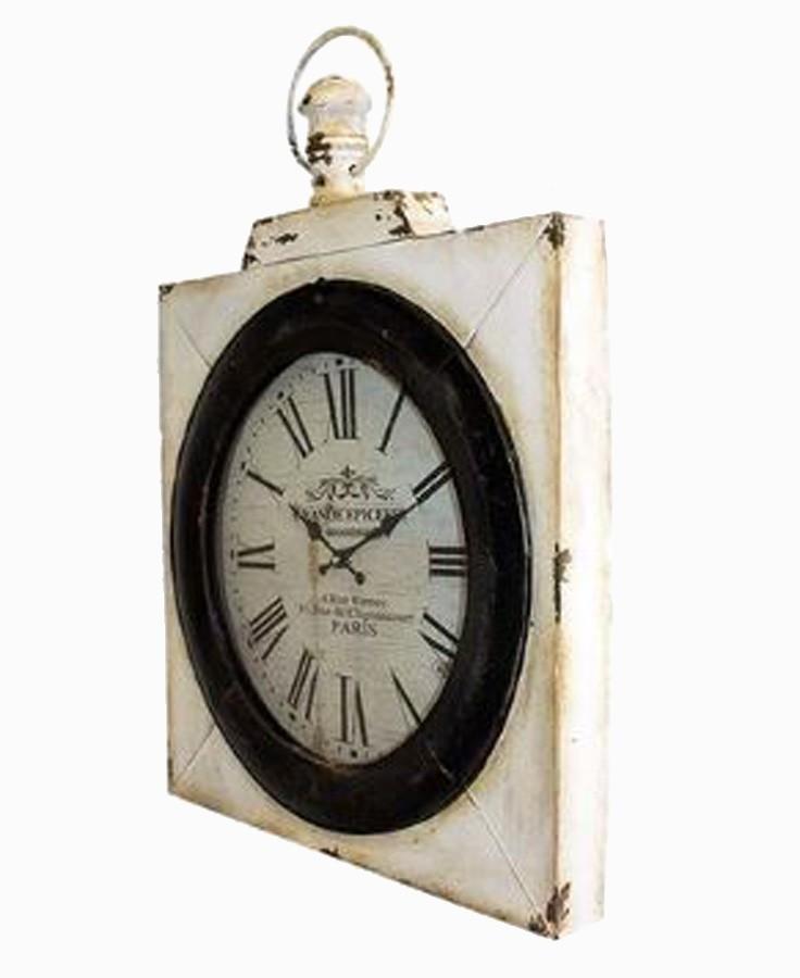Relógio Parede Ferro Quadrado  - Arrivo Mobile