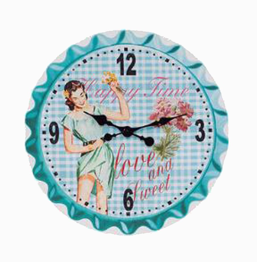 Relogio Parede Happy Time Fullway 50x50x2cm  - Arrivo Mobile