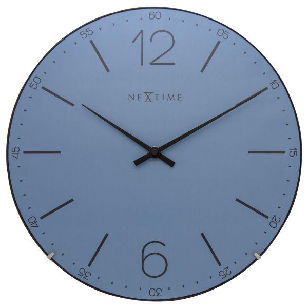 Relógio Parede Index Dome Blue Nextime  - Arrivo Mobile