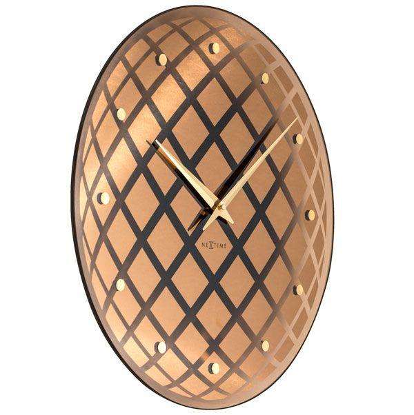 Relógio Parede Pendula Round Copper Nextime D=43cm  - Arrivo Mobile