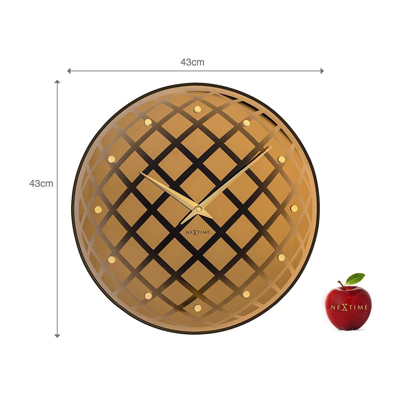 Relógio Parede Pendula Round Copper Nextime  - Arrivo Mobile