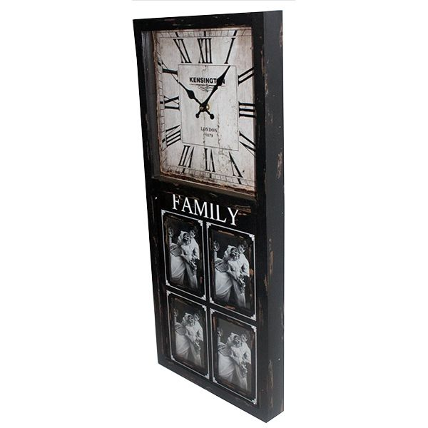 Relógio Parede Porta Retrato 4 Fotos 80x35x5,5cm  - Arrivo Mobile