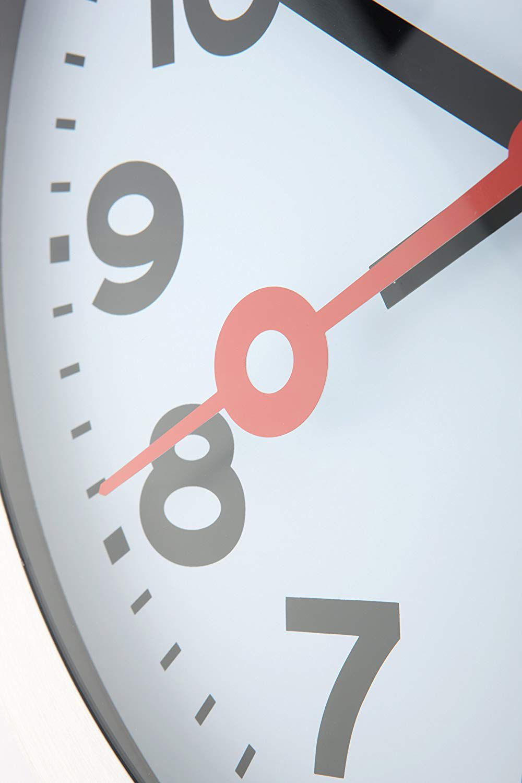 Relógio Parede Station White Aluminium  Nextime D=19cm  - Arrivo Mobile