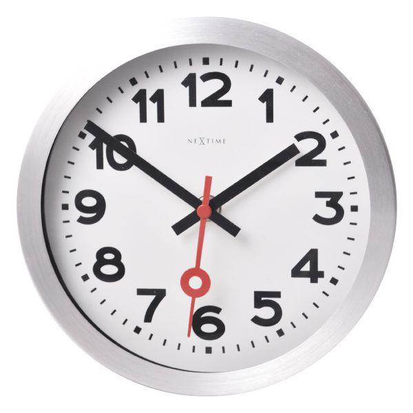 Relógio Parede Station White Aluminium Nextime  - Arrivo Mobile