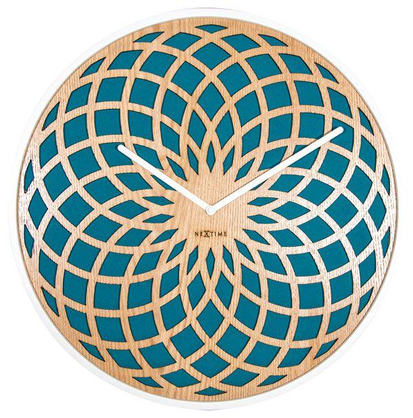 Relógio Parede Sun Small Turquesa  Nextime D=35cm  - Arrivo Mobile
