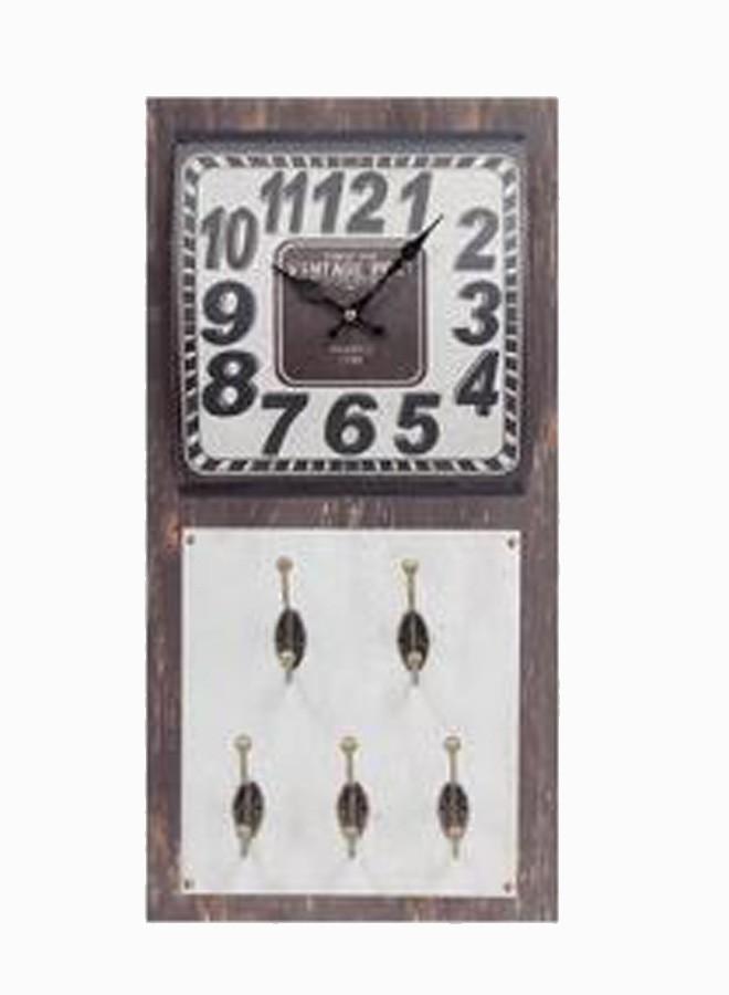 Relógio Parede Vintage C/ 5 Ganchos  - Arrivo Mobile