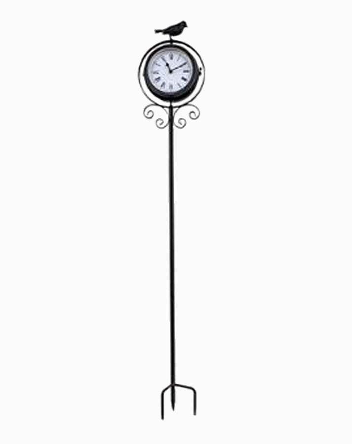 Relógio / Termômetro C Estaca Bird Pto  - Arrivo Mobile