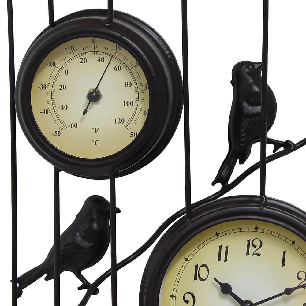 Relógio Termômetro Gaiola 51X31X12cm  - Arrivo Mobile