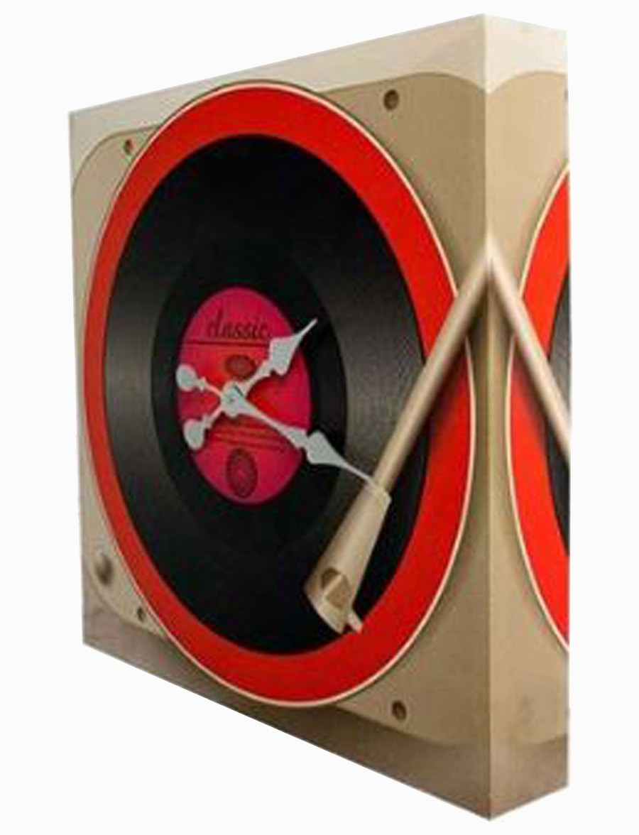 Relógio Toca Disco Fullway 60x60x10cm  - Arrivo Mobile