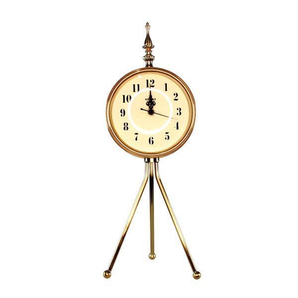 Relógio Tripe Dourado 46X16X16Cm  - Arrivo Mobile