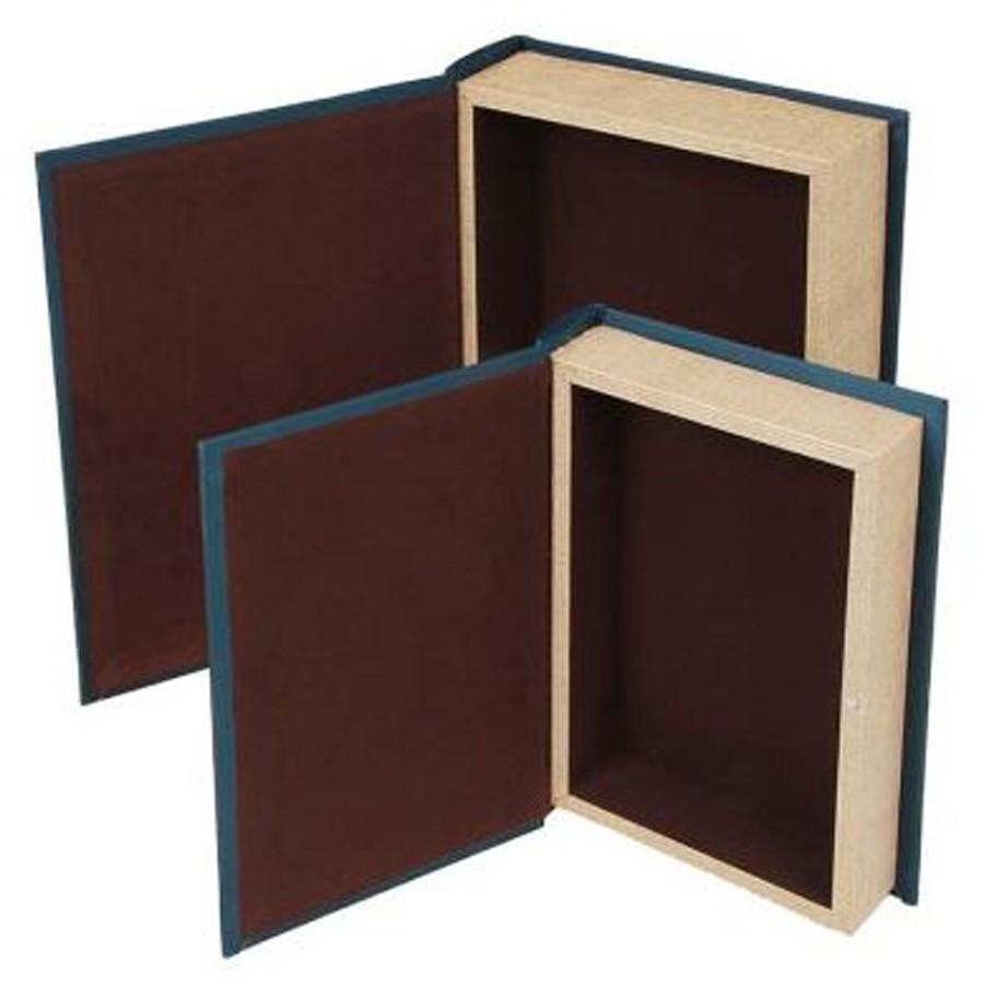 S/2 Livro Caixa Mundo 30x20x7cm  - Arrivo Mobile