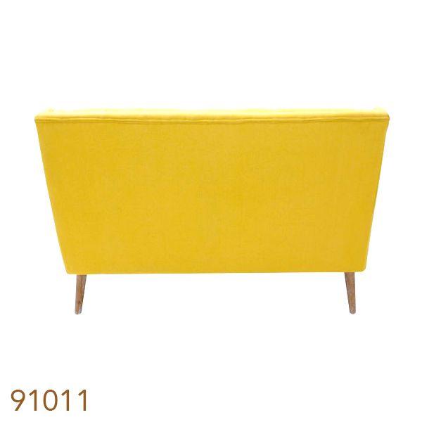 Sofá 2 Lugares Retro Braco Diagonal Amarelo  - Arrivo Mobile