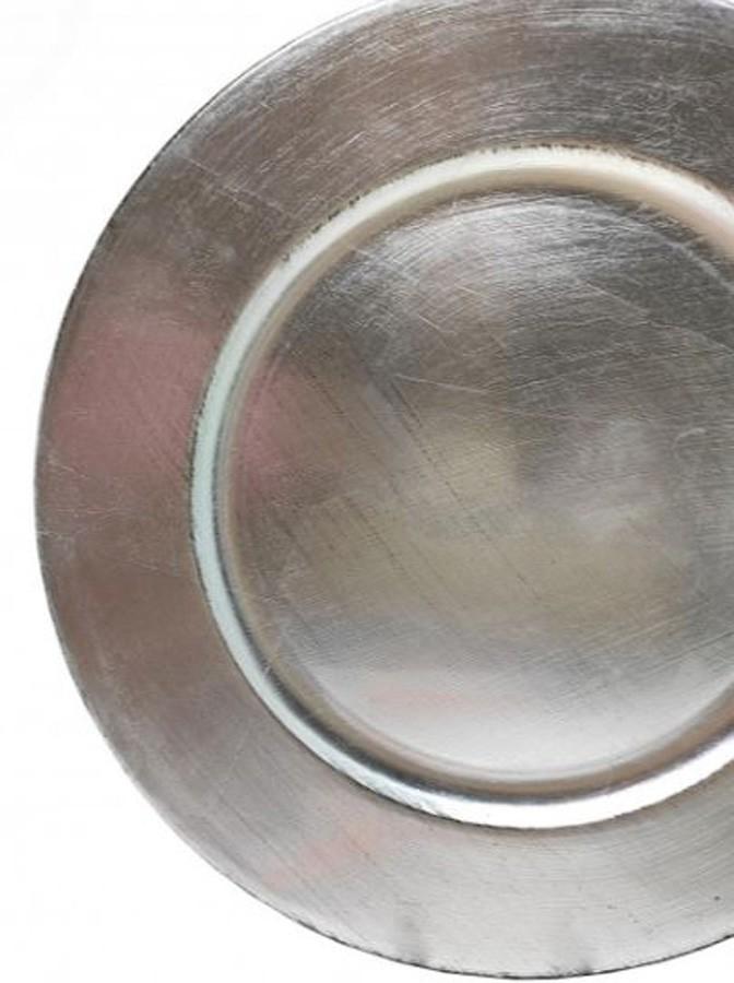 Sousplat Redondo Basic Prata 33cm - 1170  - Arrivo Mobile