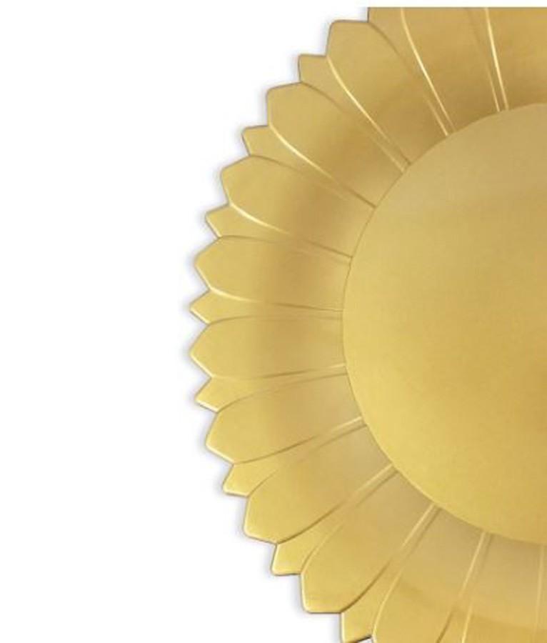 Sousplat Redondo Dourado Flower 39cm - 429  - Arrivo Mobile